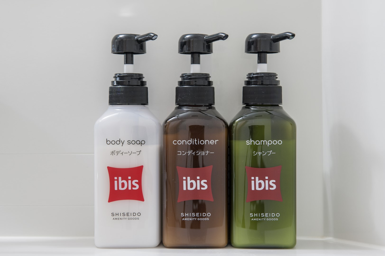 Bathroom shampoo-rinse-body soap